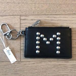 "*NEW* Tory Burch ""M"" Card Holder w Key Chain"